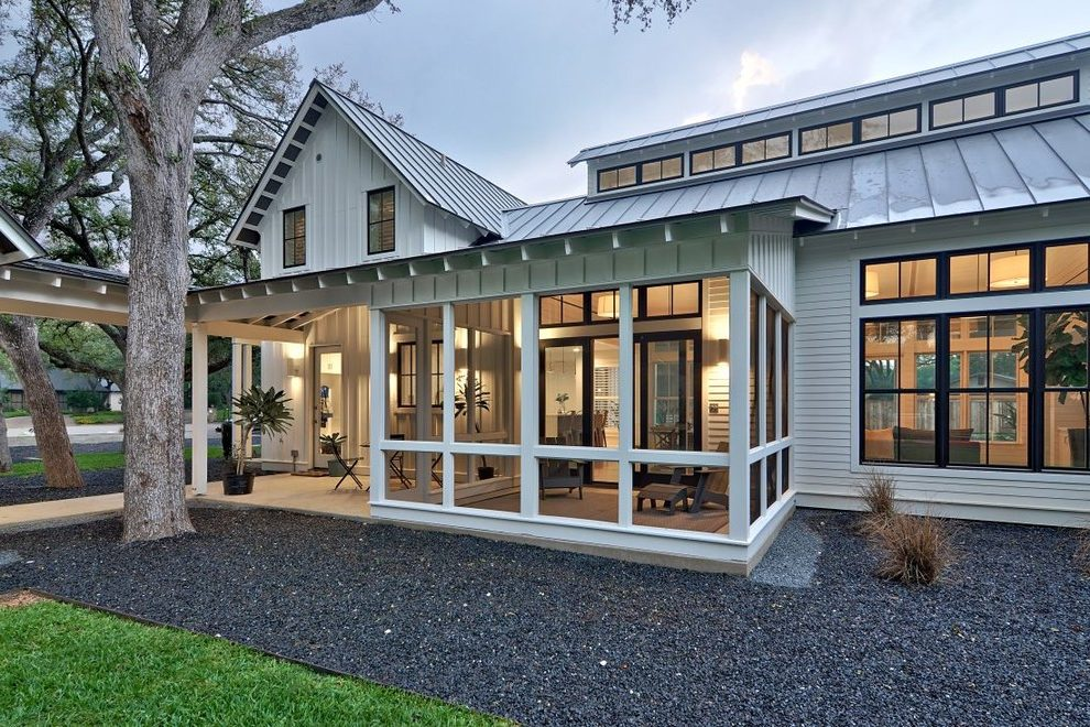 Modern Screened Porch Paint