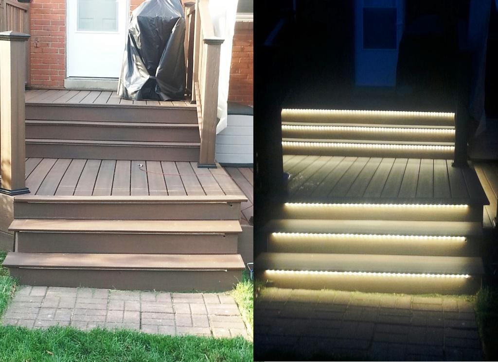 Image of: Motion Activated Porch Light Stairs