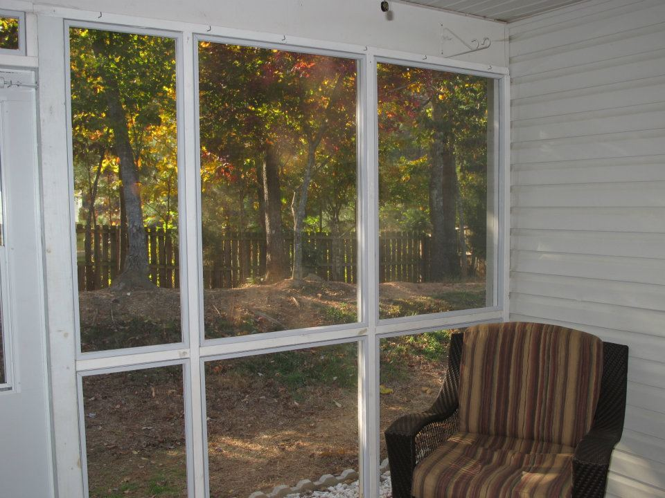 Multiple Acrylic Panels for Screened Porch