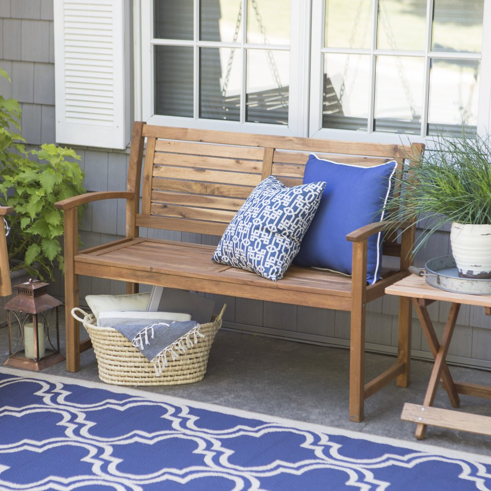 Image of: Natural Front Porch Benches