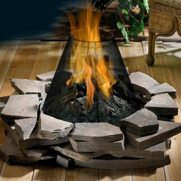 Image of: Natural Gas Outdoor Fireplace Logs