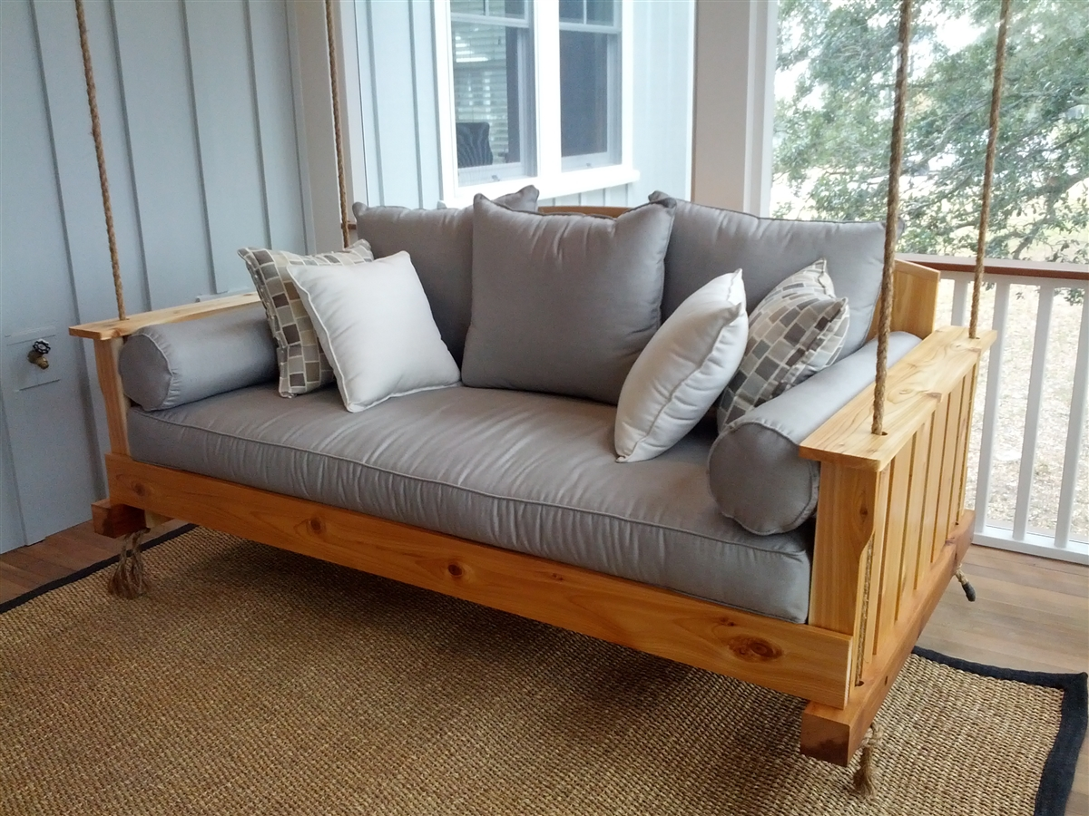 Image of: New Bed Porch Swing