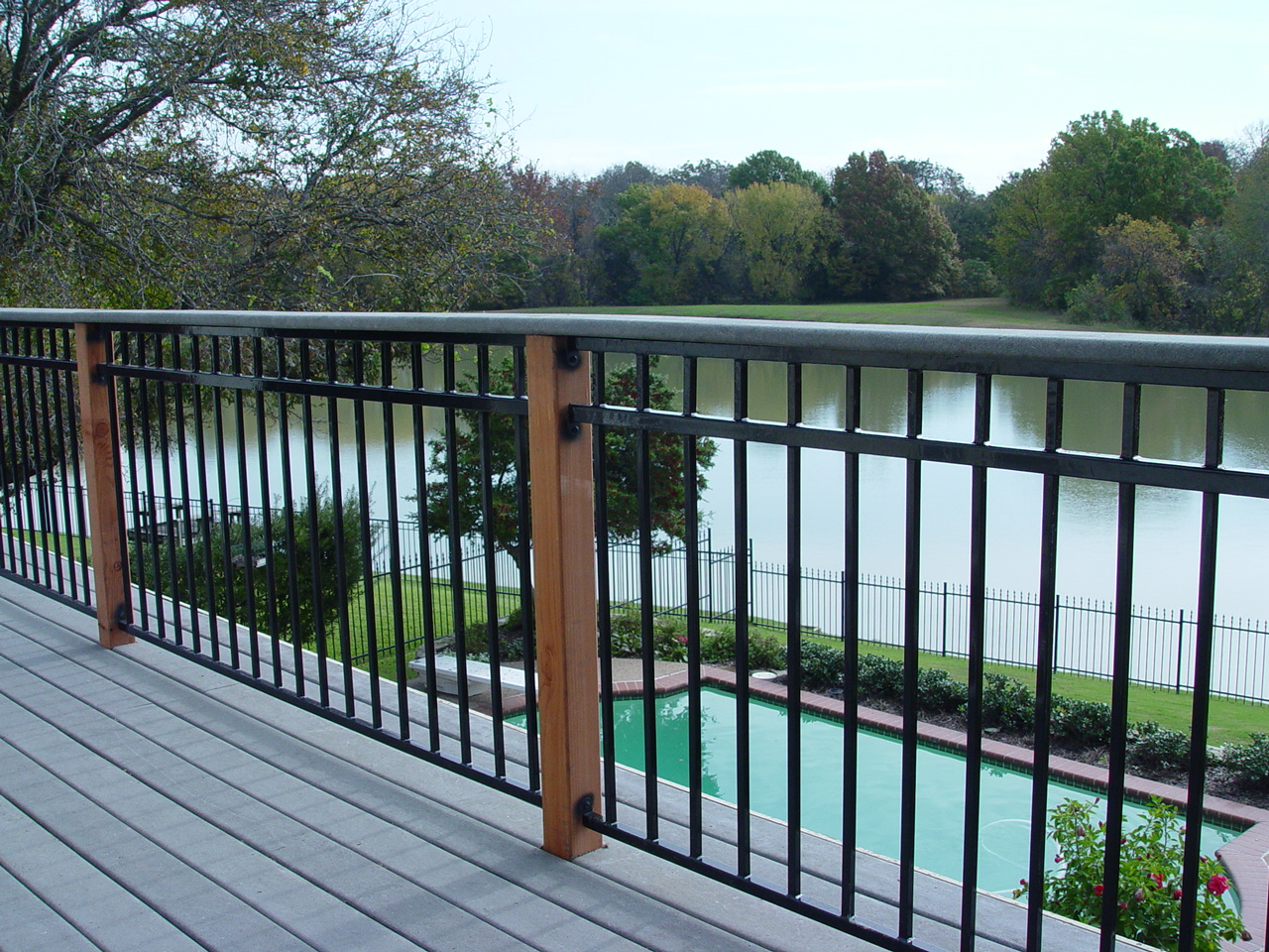 Image of: New Black Porch Railing