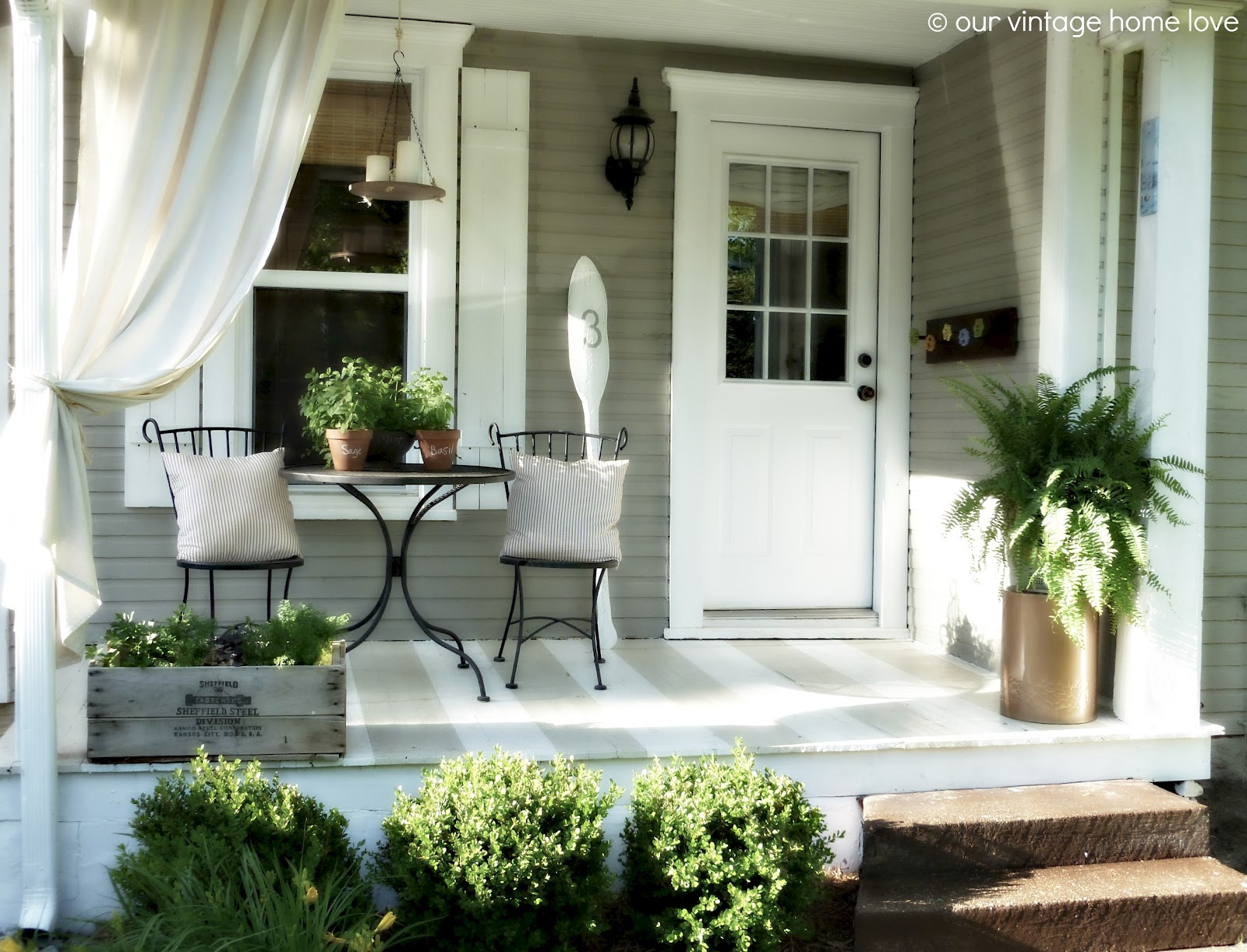 Image of: New Front Porch Decorating