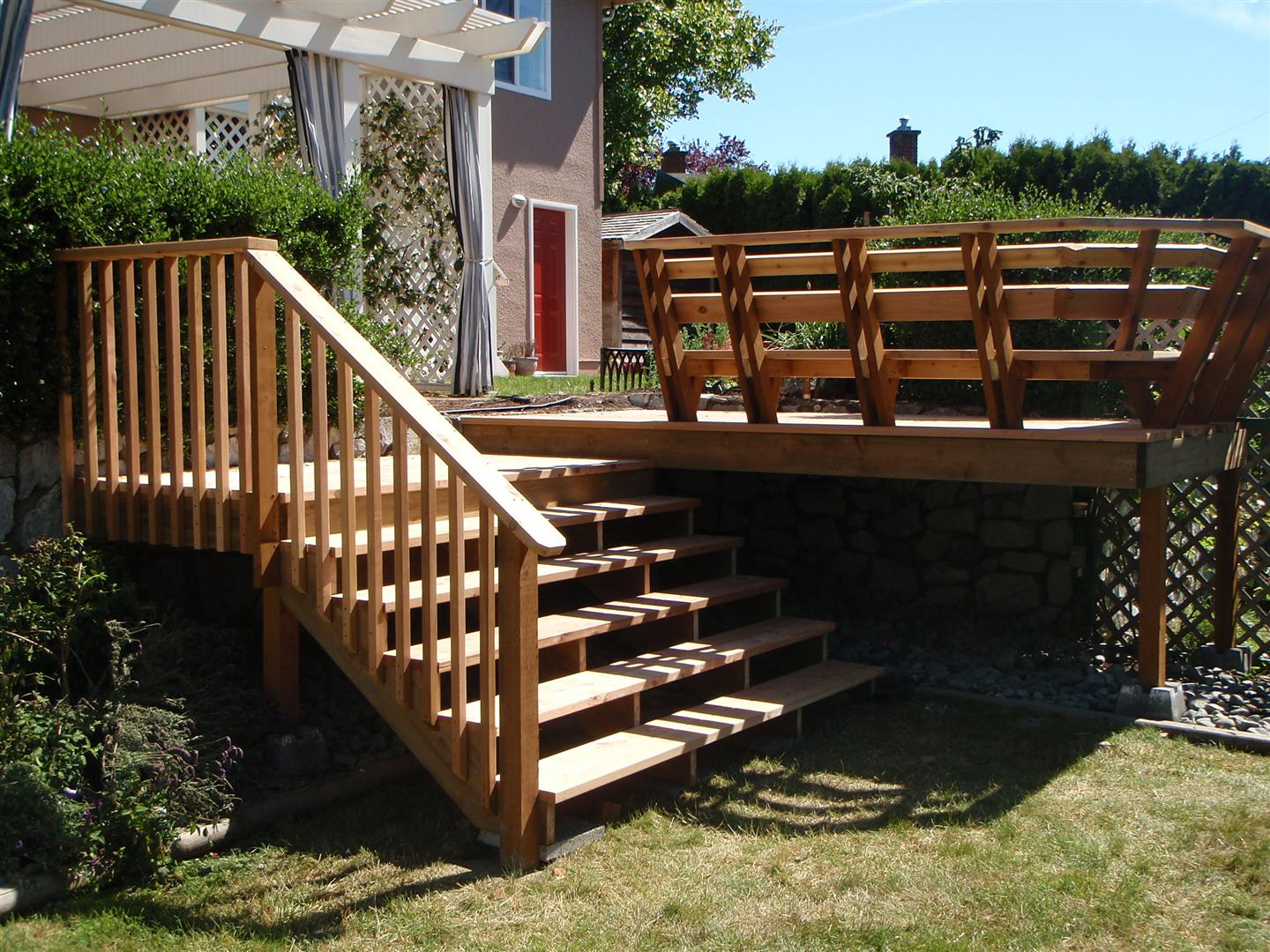 New Handrails for Porch Steps