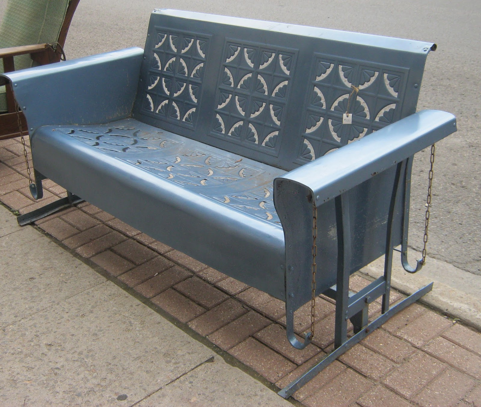 Image of: New Metal Porch Glider