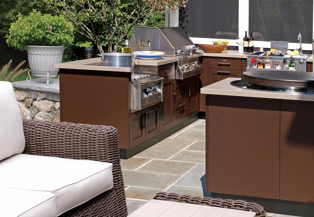 Image of: New The Katy Outdoor Kitchen Company