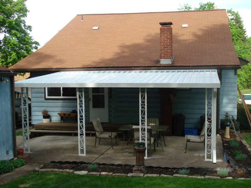 Image of: Nice Aluminum Porch Awnings