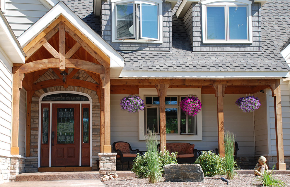 Image of: Nice Cedar Porch Columns