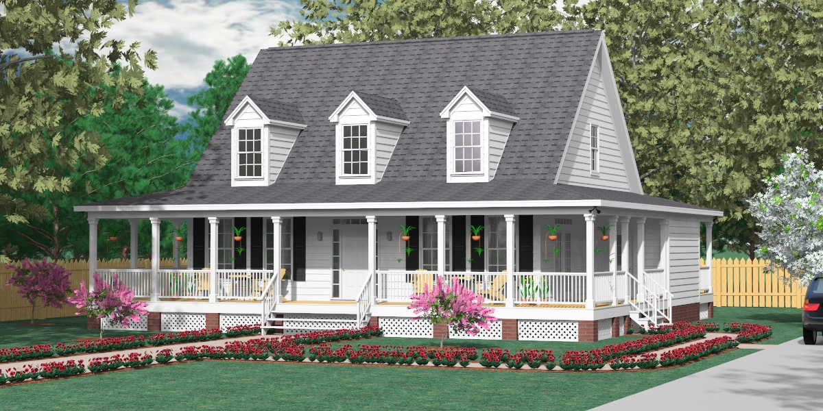 Image of: Nice Country House Plans With Porch