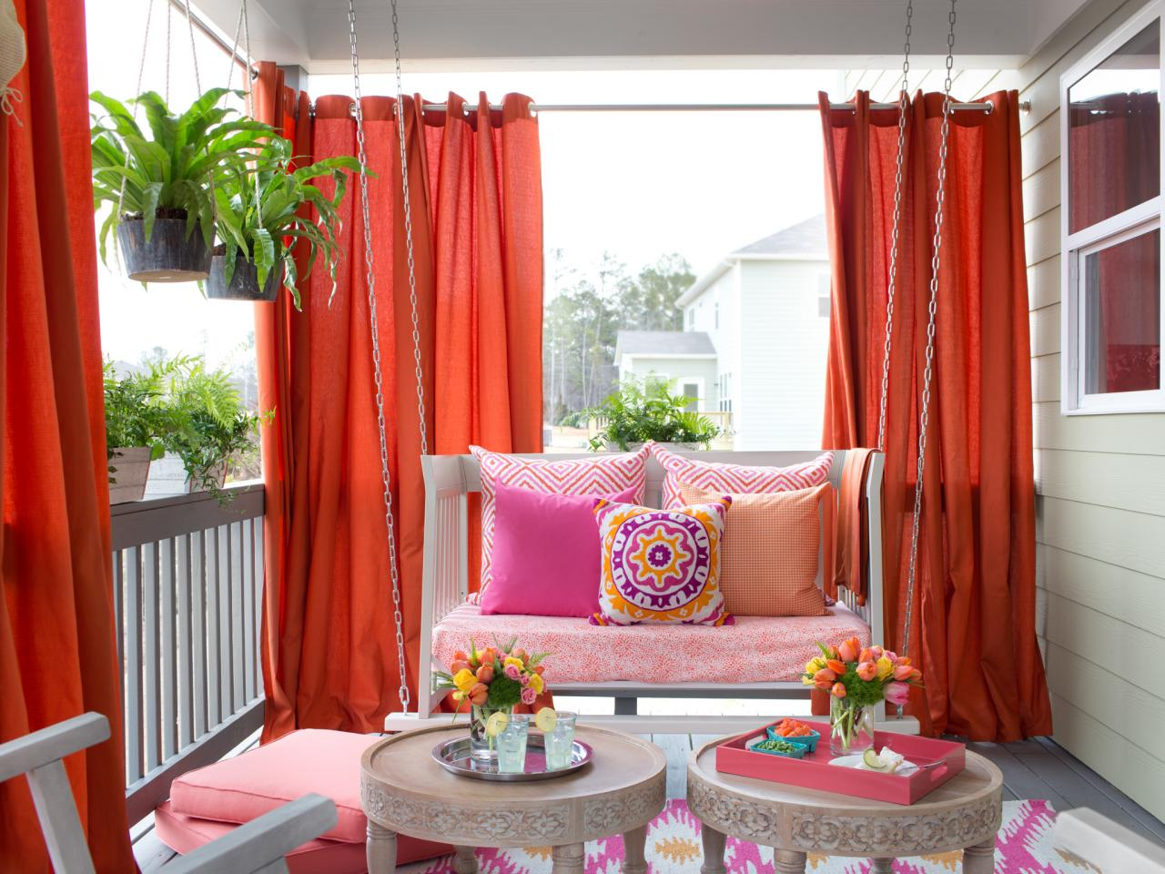 Image of: Nice Outdoor Curtains For Porch
