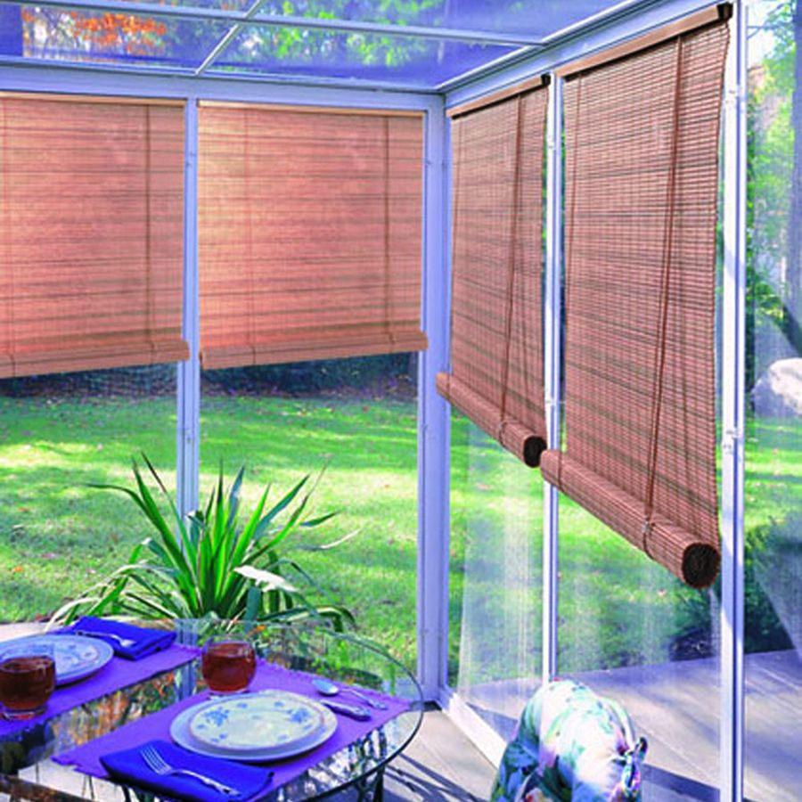 Image of: Outdoor Blinds For Porch Bamboo