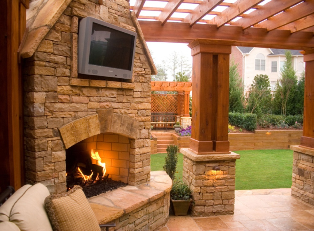 Image of: Outdoor Fireplace Cooking Grates