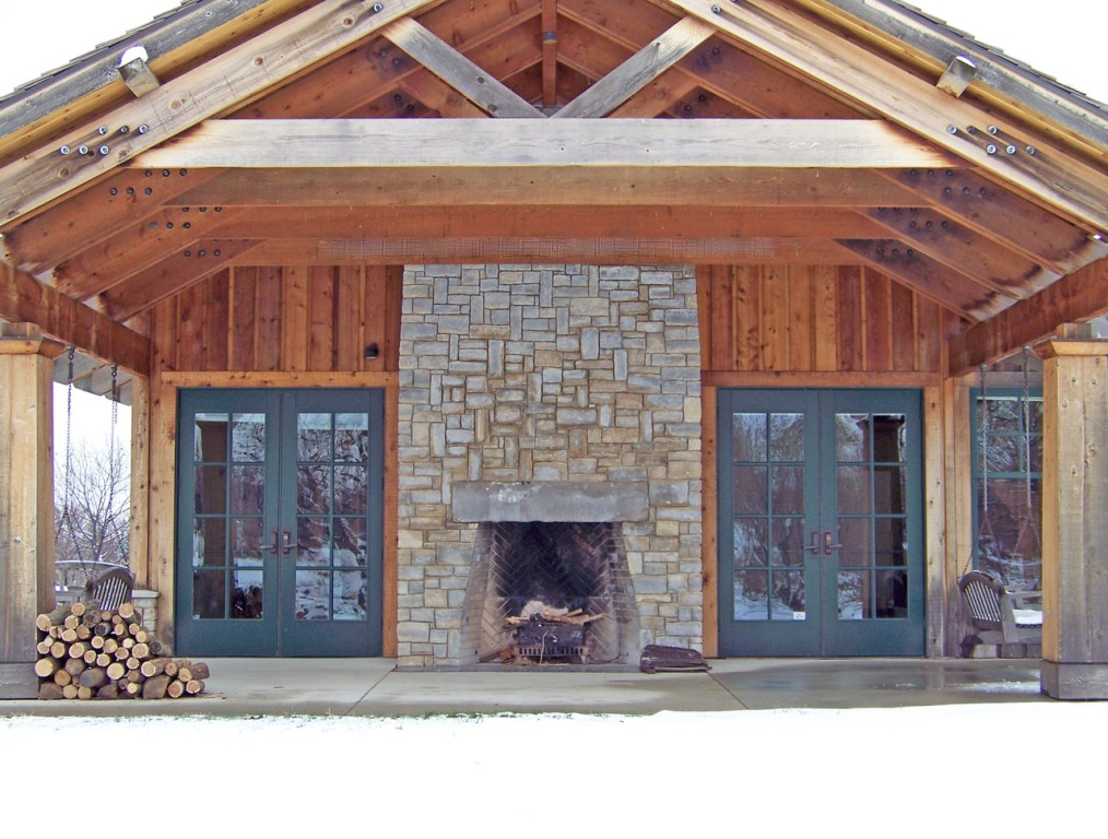 Image of: Outdoor Fireplace Screens Lowes