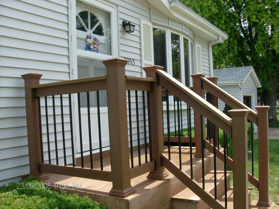 Image of: Outdoor Front Porch Railings