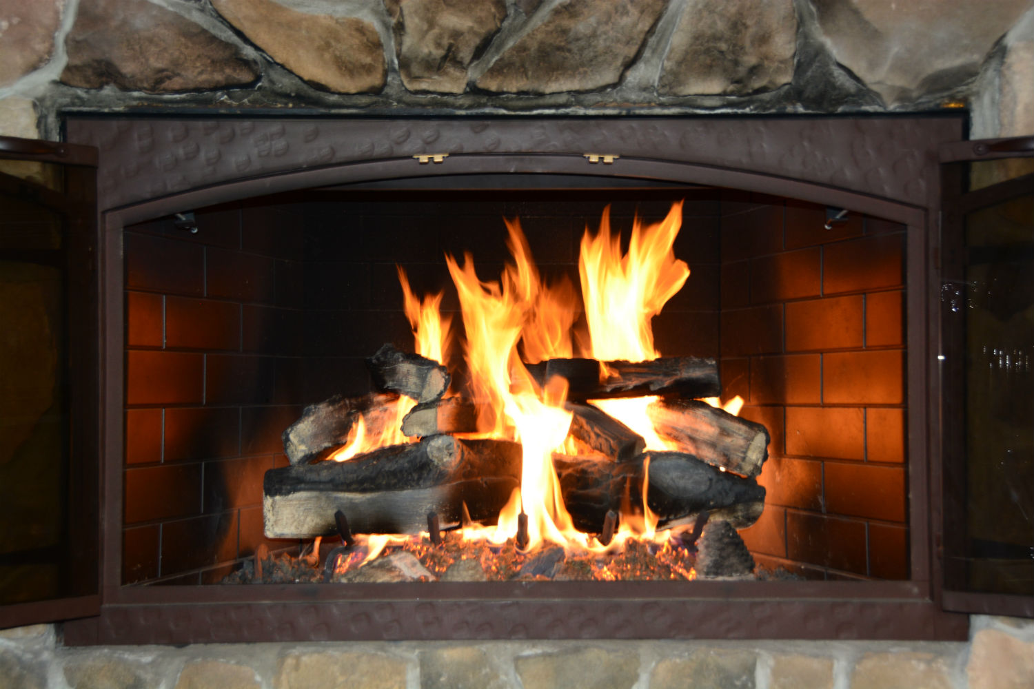 Outdoor Gas Fire Pit Logs