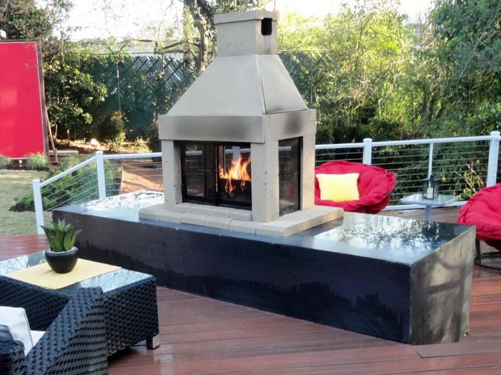 Image of: Outdoor Gas Log Fireplace Kits
