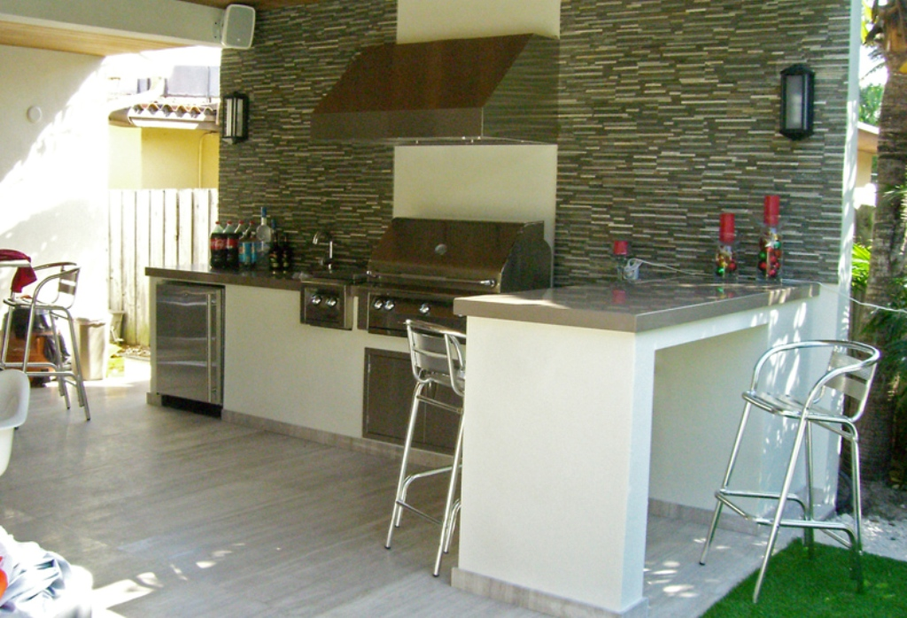 Image of: Outdoor Kitchen Ft Lauderdale
