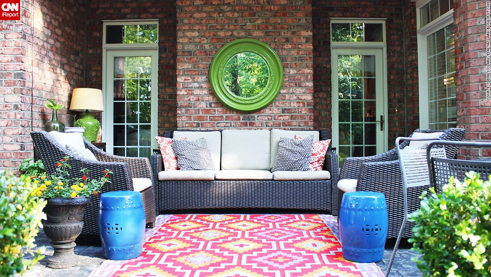 Image of: Outdoor Porch Rugs Pattern