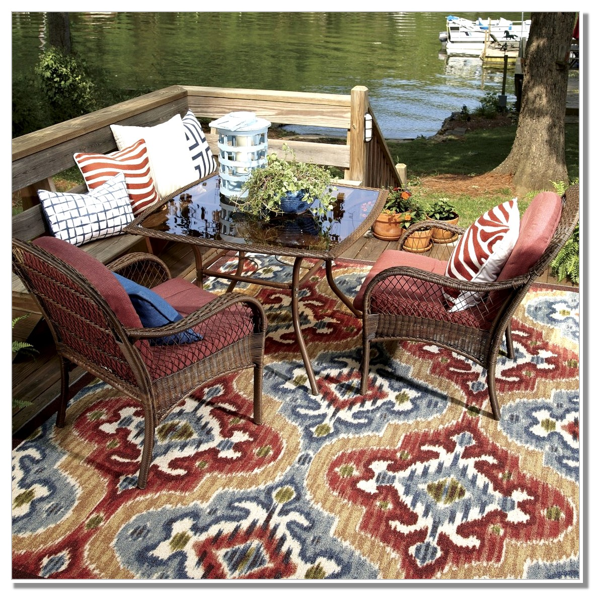 Image of: Outdoor Porch Rugs Themes