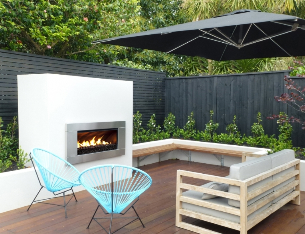 Image of: Outside Gas Fire Pit Inserts