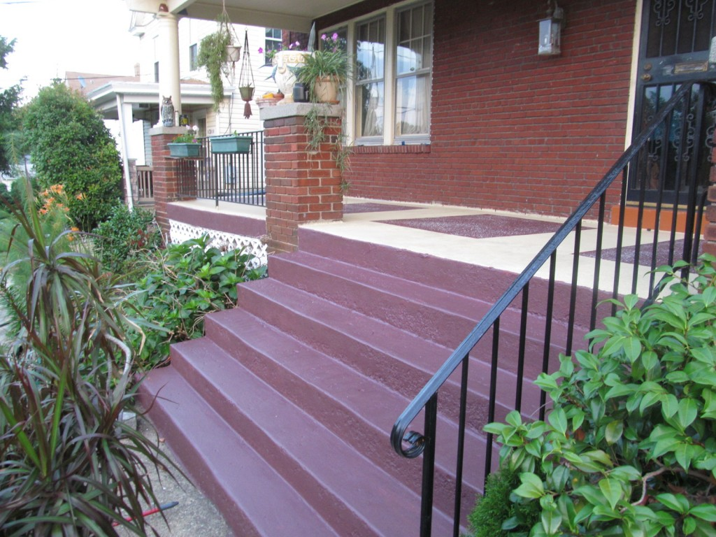 Image of: Painting Concrete Porch Best