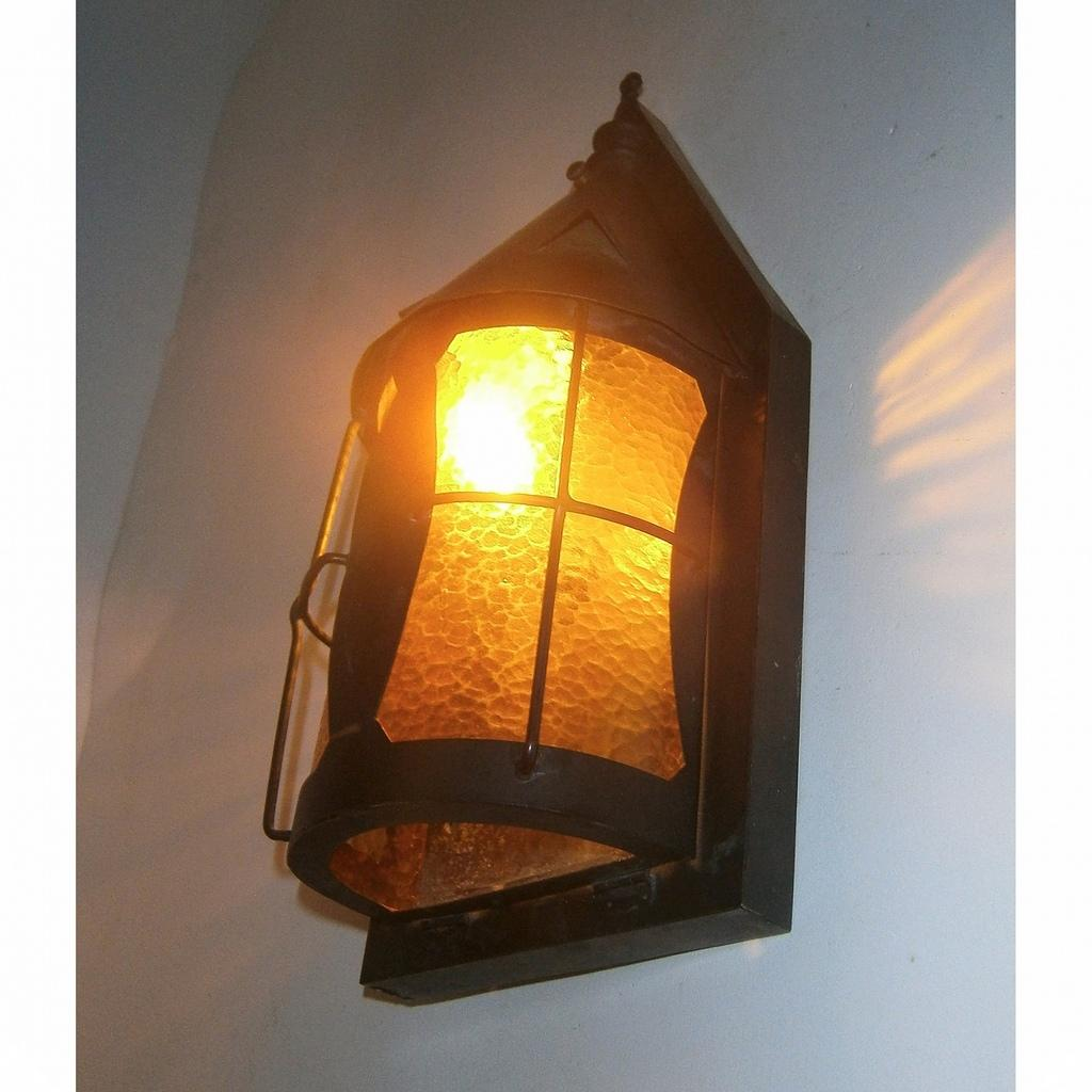 Image of: Pair Antique Copper Porch Light