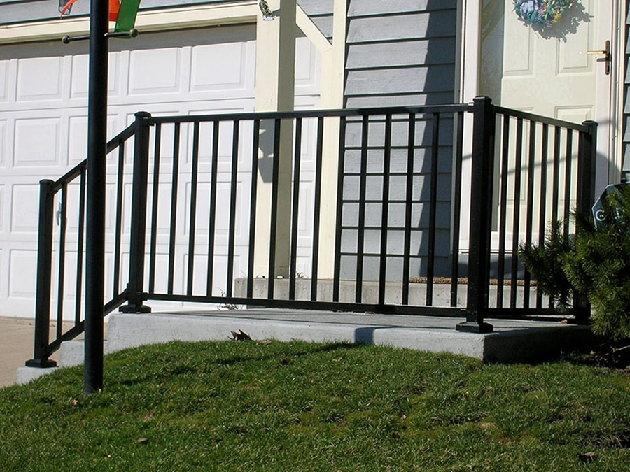 Image of: Picture Aluminum Porch Railings
