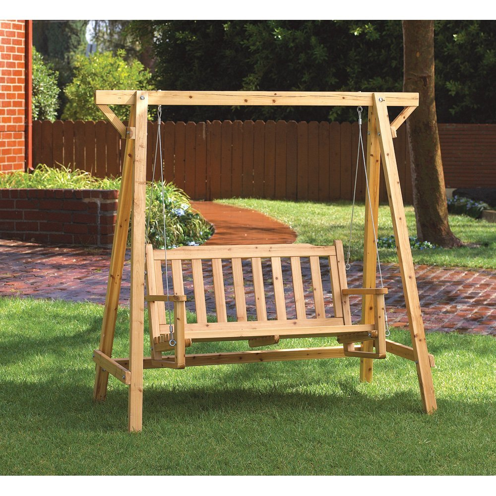 Image of: Popular Cedar Porch Swing