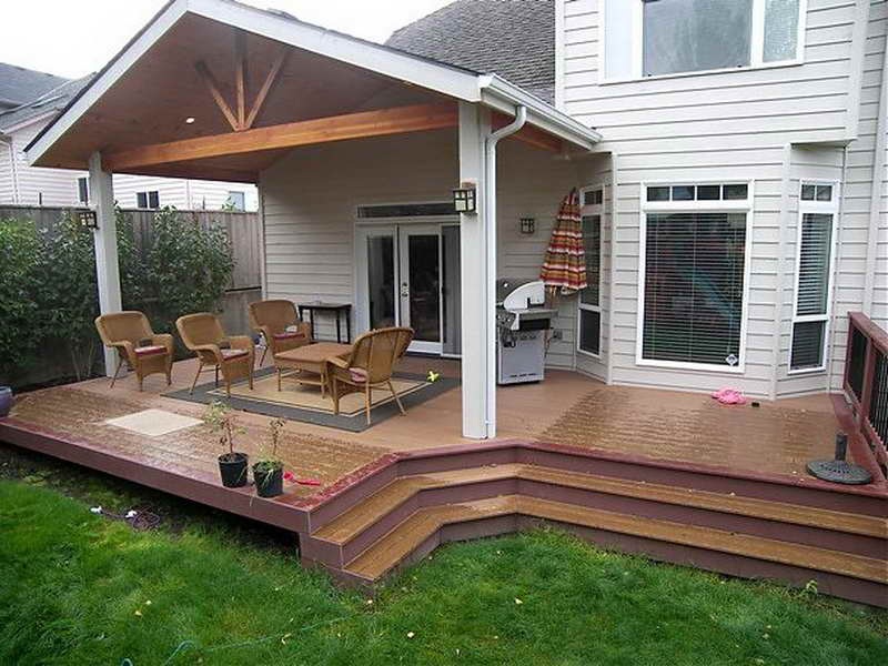 Image of: Popular Covered Back Porch Ideas