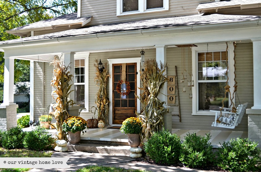 Image of: Popular Front Porch Decorating
