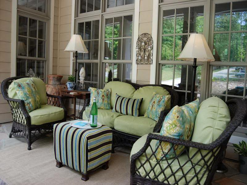 Image of: Popular Front Porch Furniture Sets