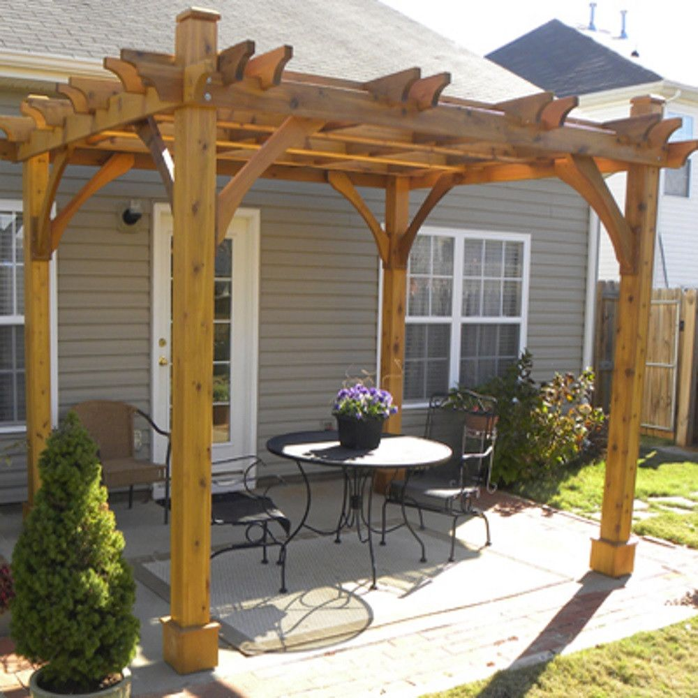 Image of: Popular Front Porch Pergola