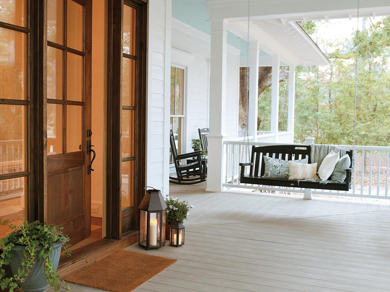 Image of: Popular Front Porch Swings