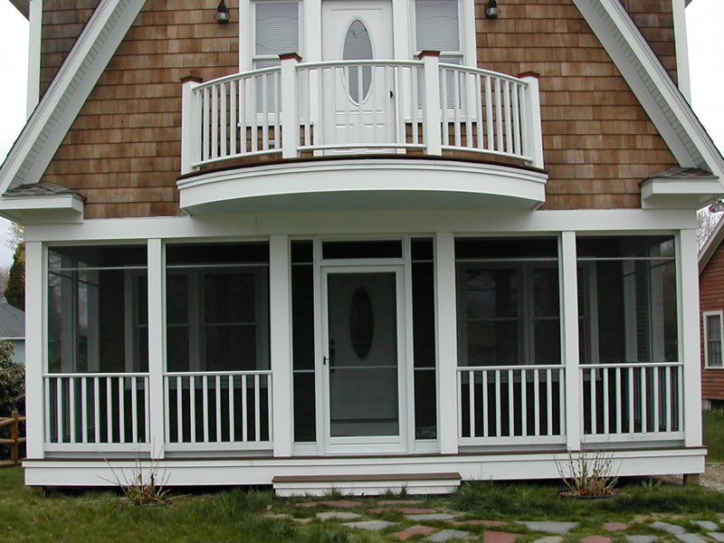 Image of: Porch Enclosures Rail