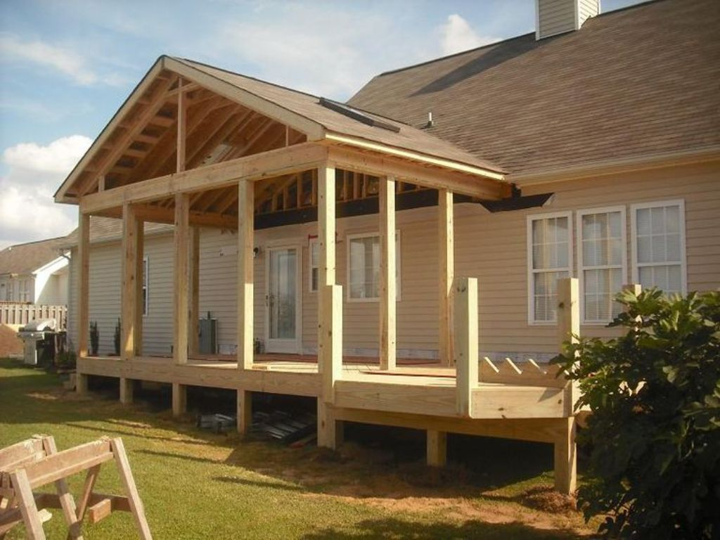 Image of: Porch Roof Framing Details