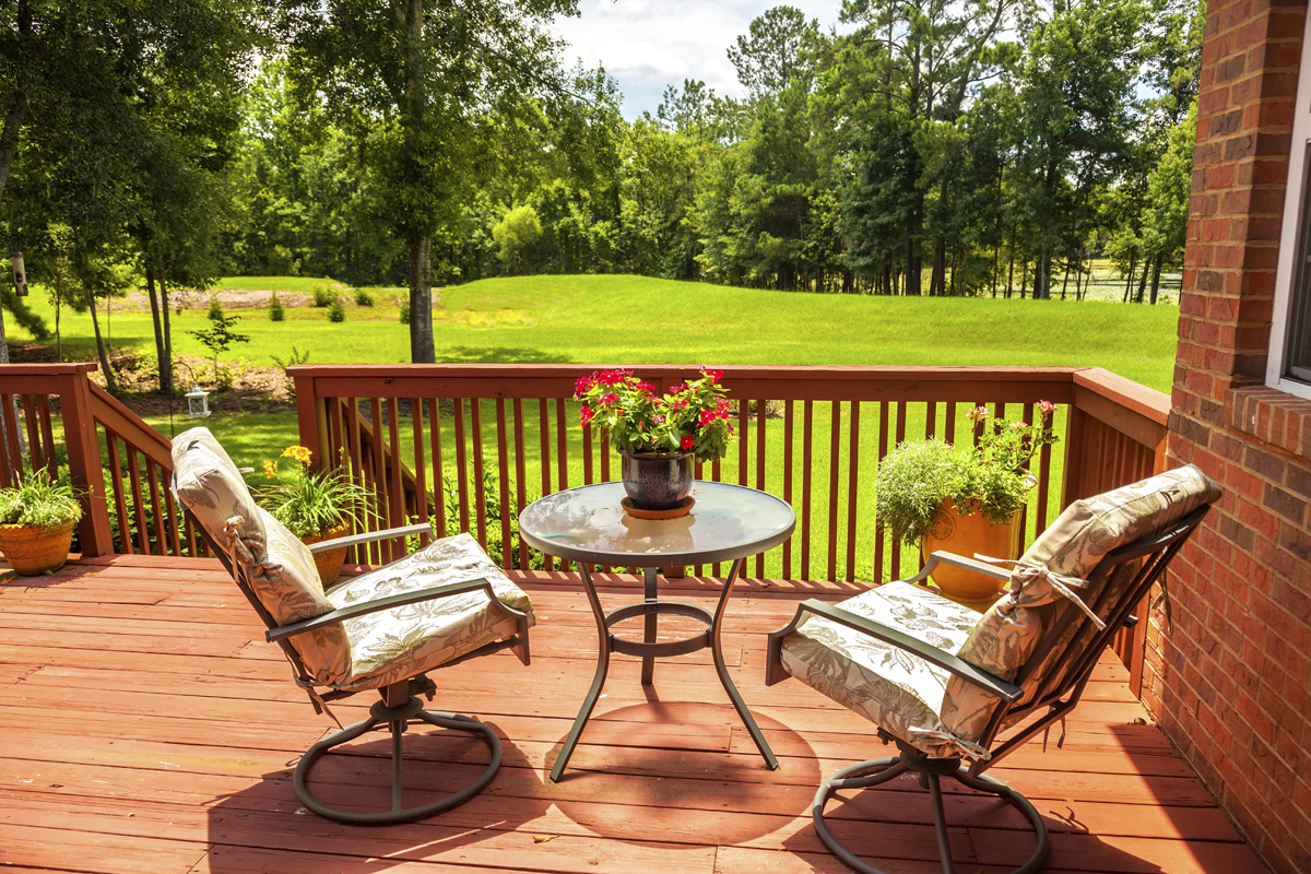 Image of: Porches And Decks Chairs