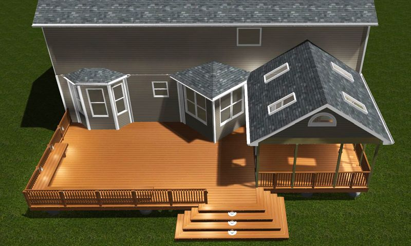 Image of: Porches And Decks Plans