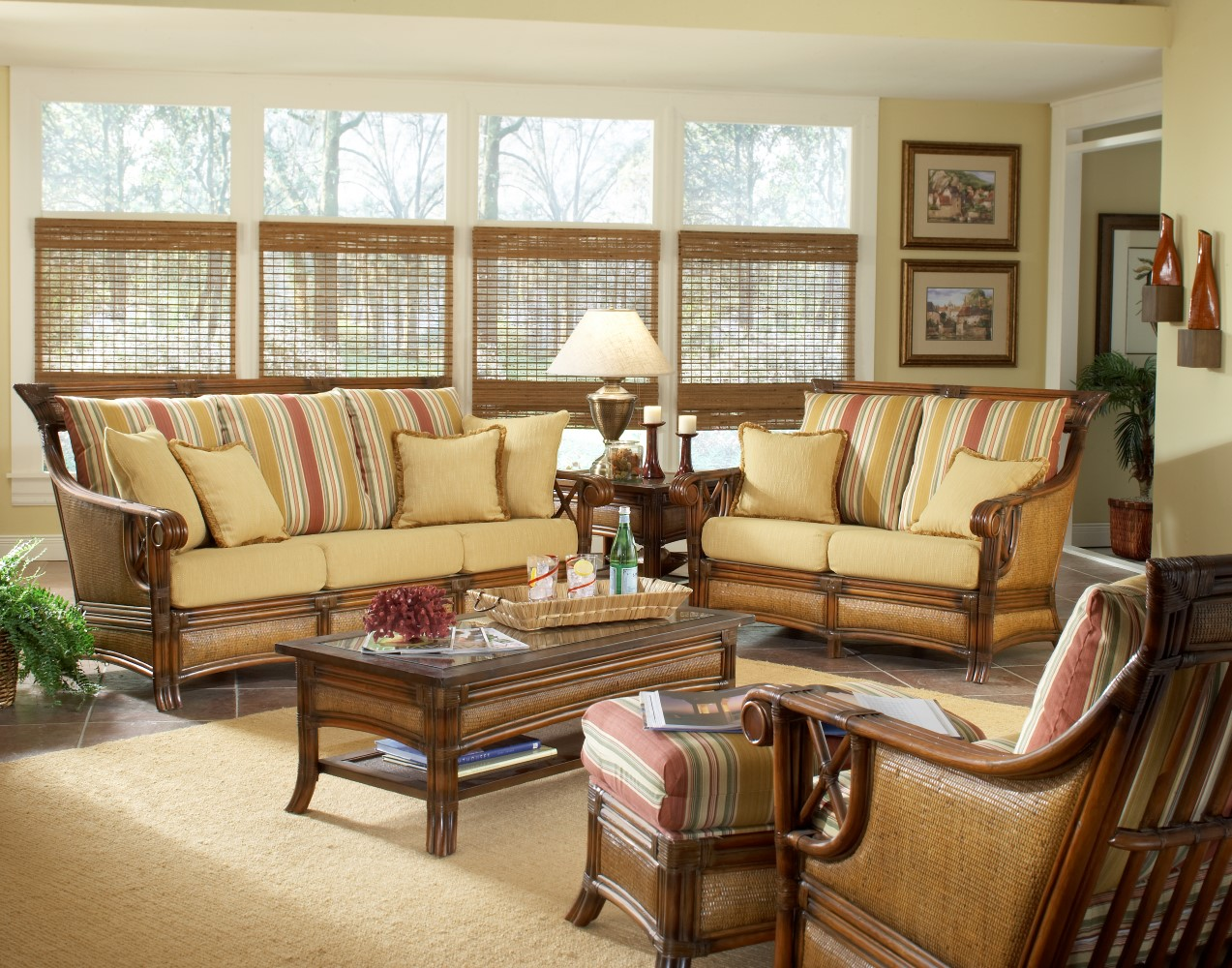Image of: Rattan Ideas For Screened In Porch