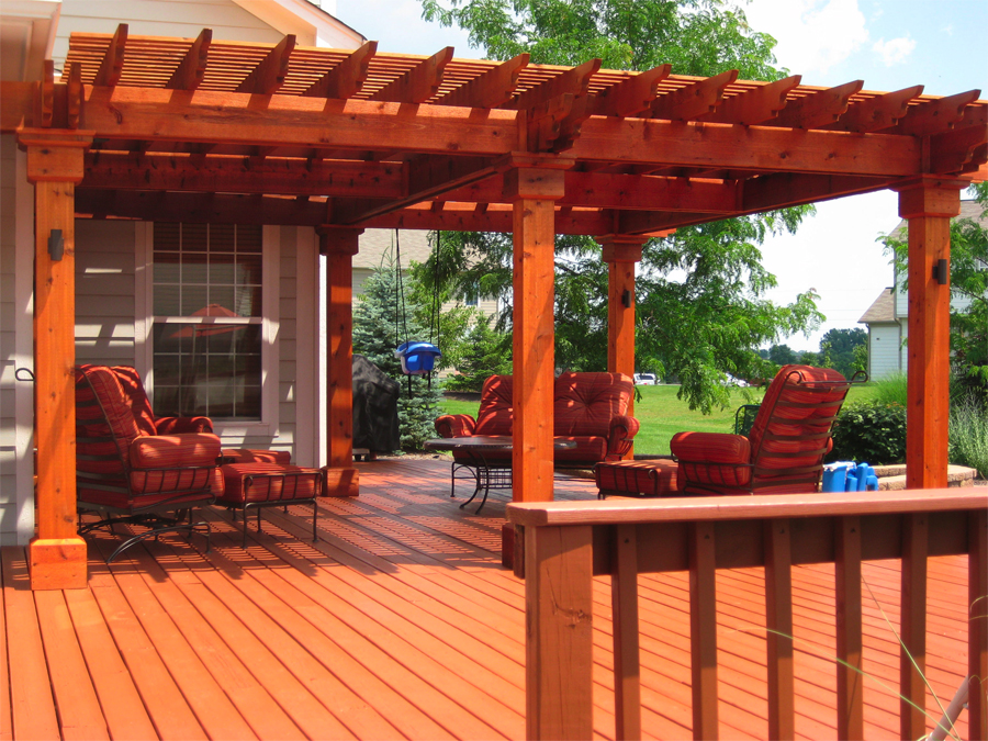 Image of: Red Porches And Decks