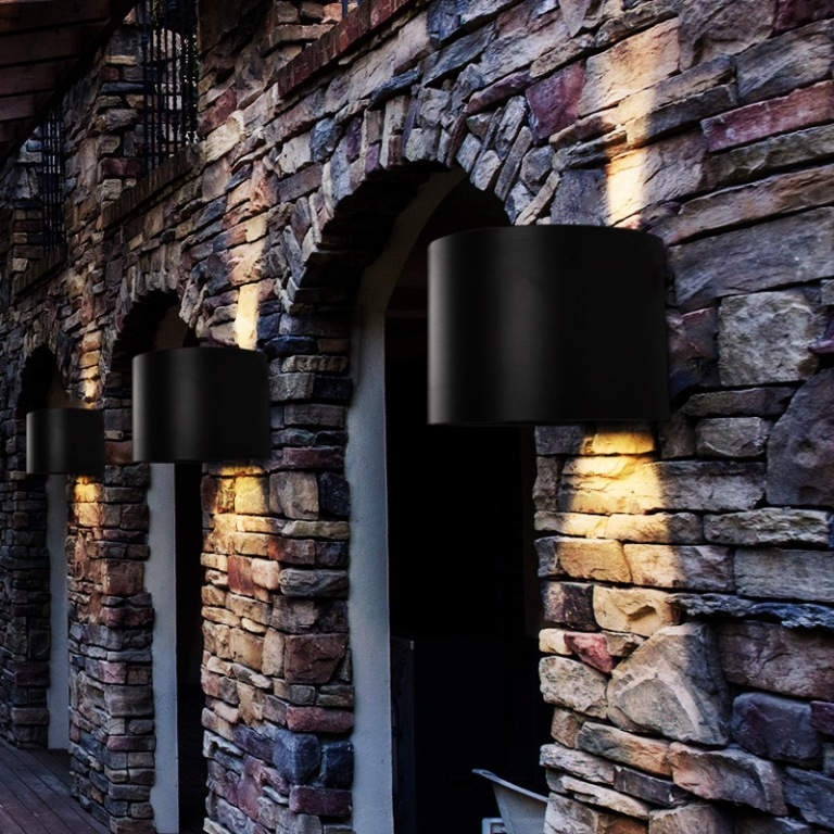Image of: Round Led Exterior Wall Lights