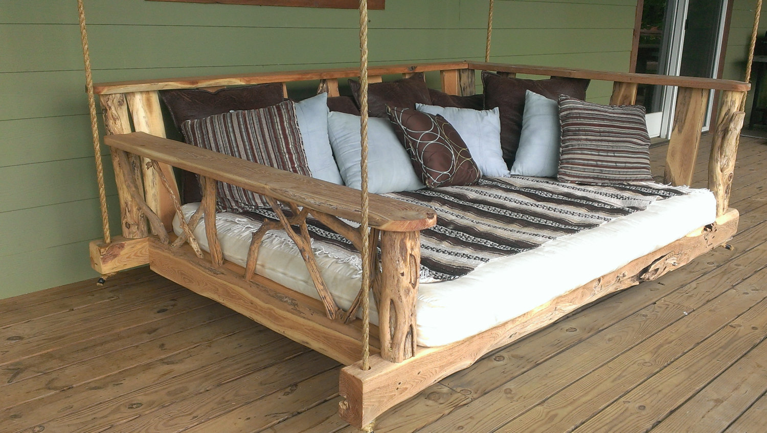Image of: Rustic Composite Porch Swing