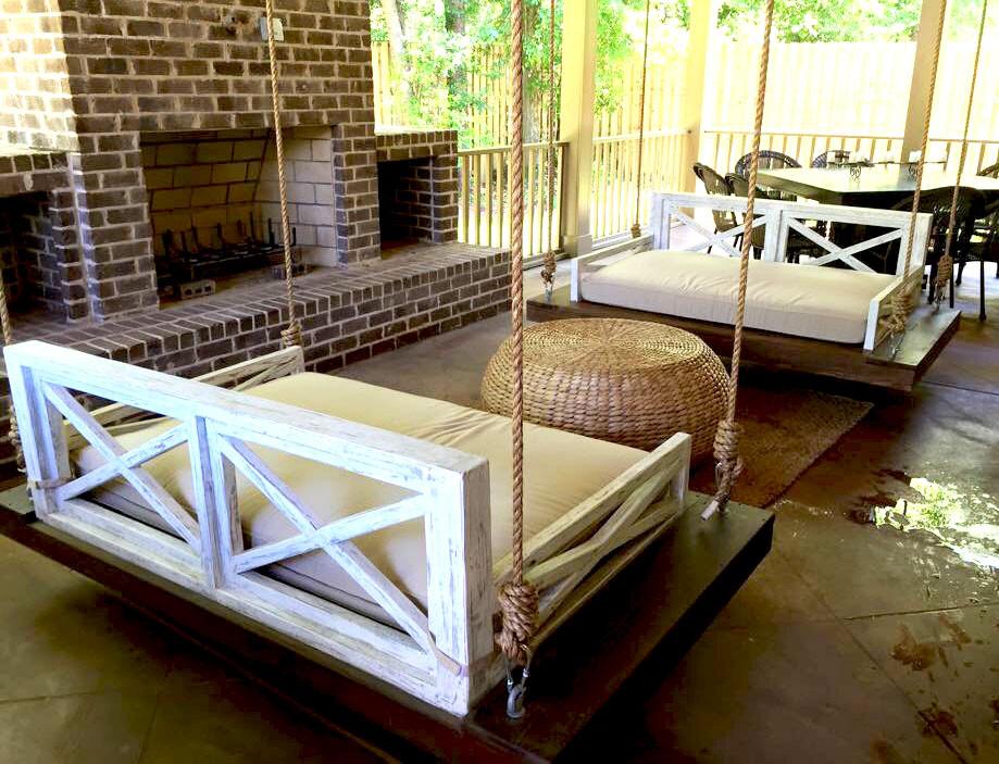 Image of: Rustic Daybed Porch Swing