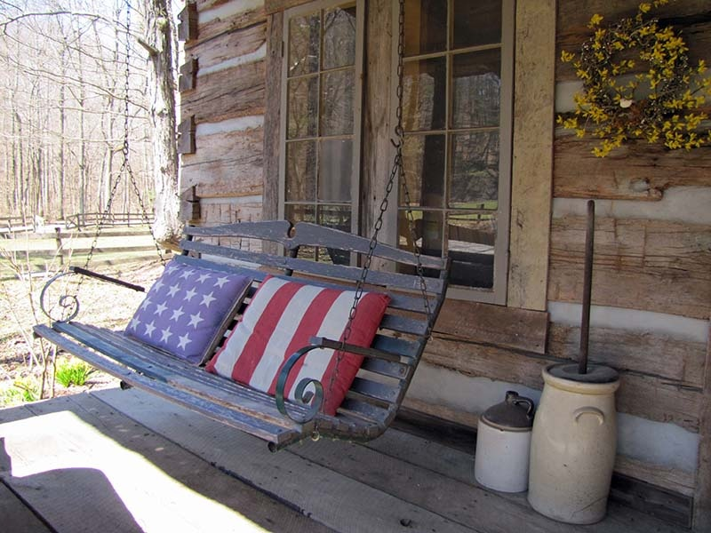 Image of: Rustic Front Porch Swings