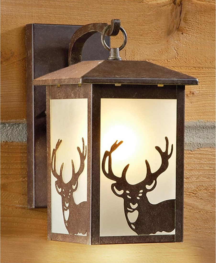 Image of: Rustic Lantern Porch Lights