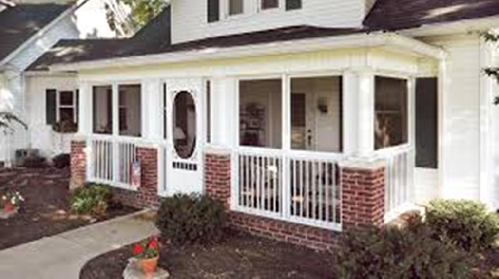 Image of: Screened In Porch Design For Mobile Homes