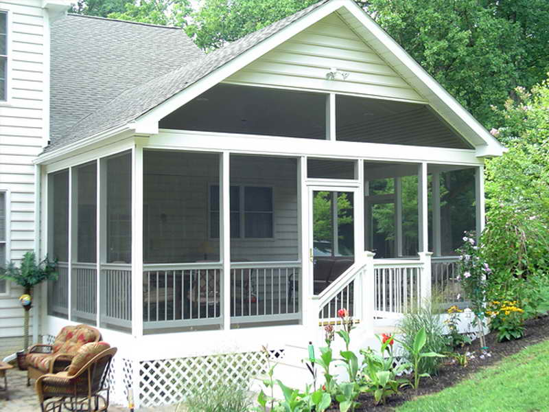 Image of: Screened In Front Porch Clean