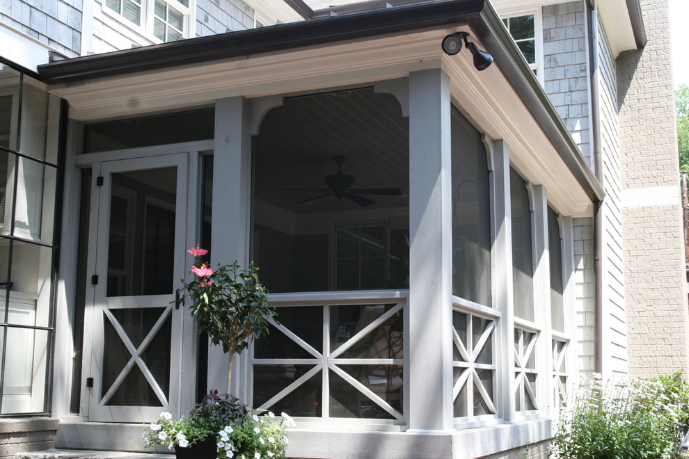Image of: Screened In Front Porch White
