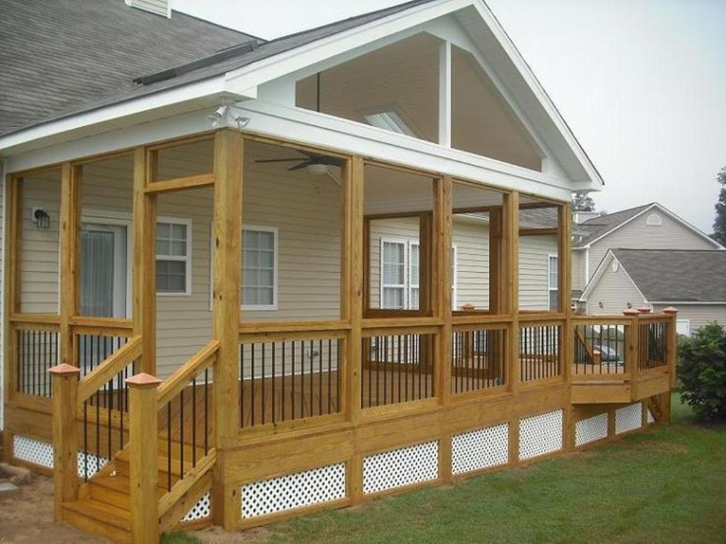 Image of: Shed Porch Roof Framing