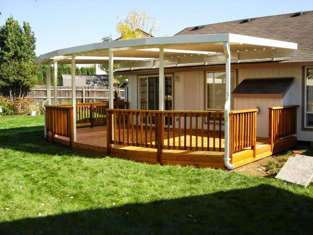 Image of: Simple Backyard Porch Ideas